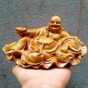 Tượng Phật Di Lặc Ngồi Lá Sen